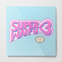 Super Waifu Metal Print