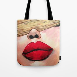 Put Some Red Lipstick On Tote Bag