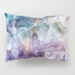 Turquoise & Purple Quartz Crystal Pillow Sham