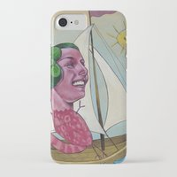 sailing iPhone & iPod Cases featuring Sailing by busymockingbird