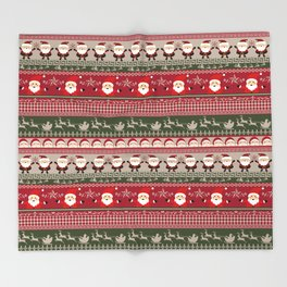Santa Claus Ugly Sweater Throw Blanket