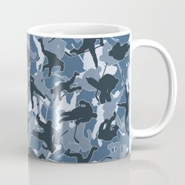Ice Hockey Player Camo URBAN BLUE Coffee Mug