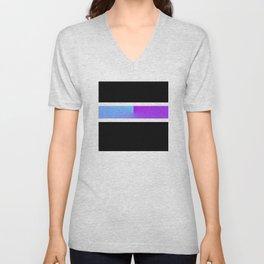 Team Colors 3...blue,purple Unisex V-Neck