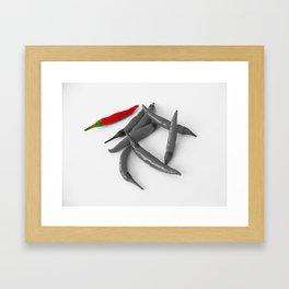 My Favorite Chilli. Framed Art Print