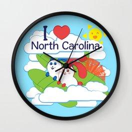 Ernest and Coraline | I love North Carolina Wall Clock