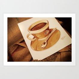 Cup of Coffee - Coffee Art Art Print