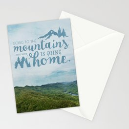 Going to the Mountains Stationery Cards