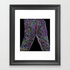 Neon Trousers Framed Art Print