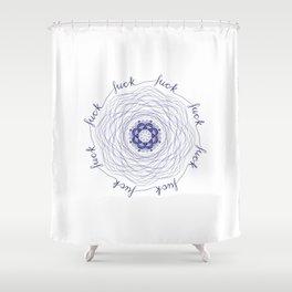 Fuck Mandala Shower Curtain