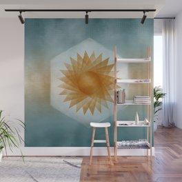 Geometric Sun Wall Mural