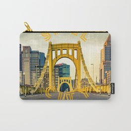 Pittsburgh Steel City Bridge Print Carry-All Pouch