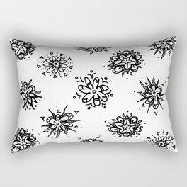 Flower Doodles Rectangular Pillow