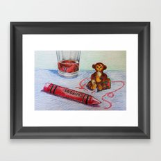 Crayon Love My Monkey is up to Something Framed Art Print