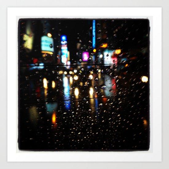 Blurry Times Square  Art Print