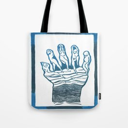 Dead in the water Tote Bag