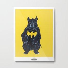 """Bear as Bat Man - """"Bat Bear"""" Metal Print"""