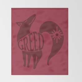 The Fox's Sin of Greed Throw Blanket