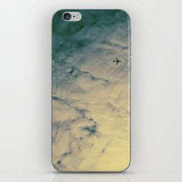 Yellow Airplane iPhone Skin