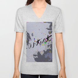 Artist: shades of gray Unisex V-Neck