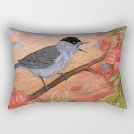 Blackcap in spring Rectangular Pillow