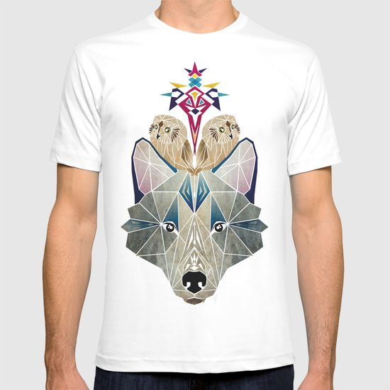 wolf and owls T-shirt