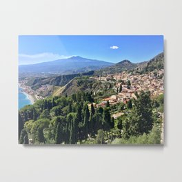Mount Etna - Sicily, Italy Metal Print