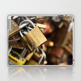 Padlock at Love Bridge in Paris Laptop & iPad Skin
