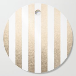 Simply Vertical Stripes in White Gold Sands Cutting Board