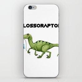 Floss Flossoraptor Hygiene Dental Funny -Dentist Gift iPhone Skin
