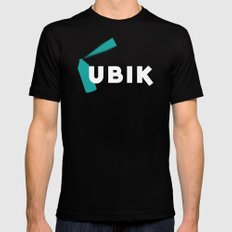 Ubik by Philip K Dick Mens Fitted Tee Black MEDIUM