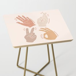 I Don't Know What to Do With My Hands Side Table
