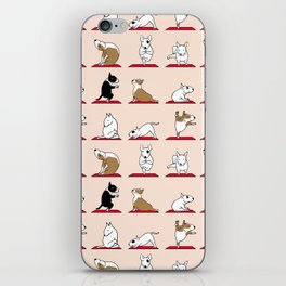 Bull Terrier Yoga iPhone Skin
