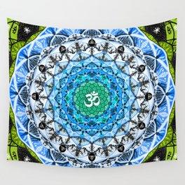 BLUE OM Wall Tapestry