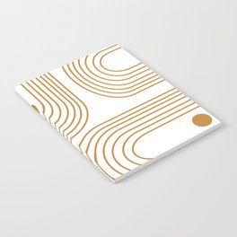 Lines and Circles in Goldenrod Notebook