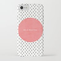polka iPhone & iPod Cases featuring HELLO BEAUTIFUL - POLKA DOTS by Allyson Johnson