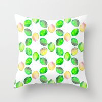 lime Throw Pillows featuring lime by ingrid chow