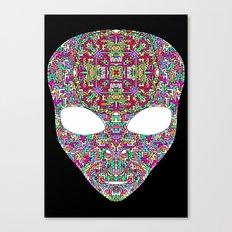 Rainbow Alien Canvas Print