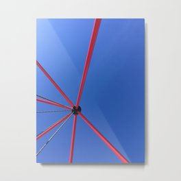 Red Against The Blue Sky Metal Print