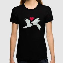 Origami Lovebirds T-shirt
