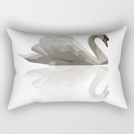 Geometric Swan Rectangular Pillow