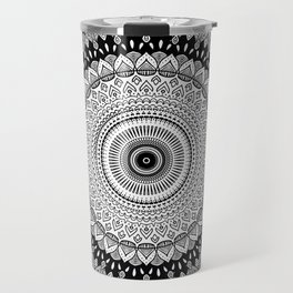 Black and White Mandala Two Travel Mug