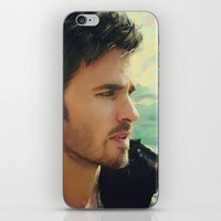 hook iPhone & iPod Skins featuring Captain Hook by Alba Palacio