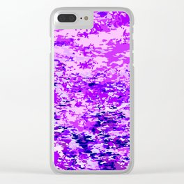 Purple Flames Background Clear iPhone Case