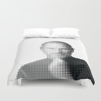 steve jobs Duvet Covers featuring Jobs Abstract Portrait by Andy@Applewerk
