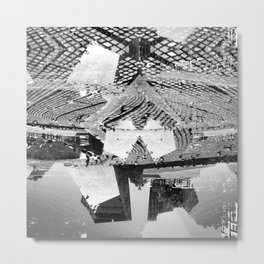 Summer space, smelting selves, simmer shimmers. 23, grayscale version Metal Print