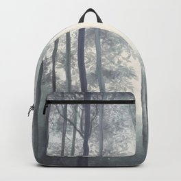Frozen Fog in the Forest Backpack