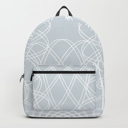 mathematical rotating roses - ice gray Backpack
