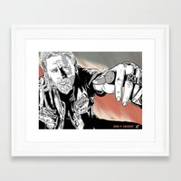 sons of anarchy Framed Art Prints featuring Sons of Anarchy - Jax by Averagejoeart