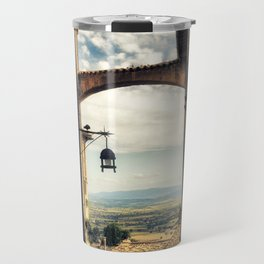 Traditional alley in Assisi Travel Mug