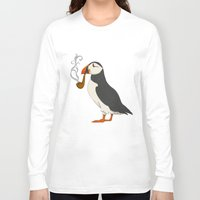agnes Long Sleeve T-shirts featuring Puffin' by Megs stuff